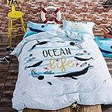 Amazon.com: Cliab Whale Bedding Ocean Bedding Twin 100%