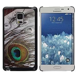 Be Good Phone Accessory // Dura Cáscara cubierta Protectora Caso Carcasa Funda de Protección para Samsung Galaxy Mega 5.8 9150 9152 // Peacock eye