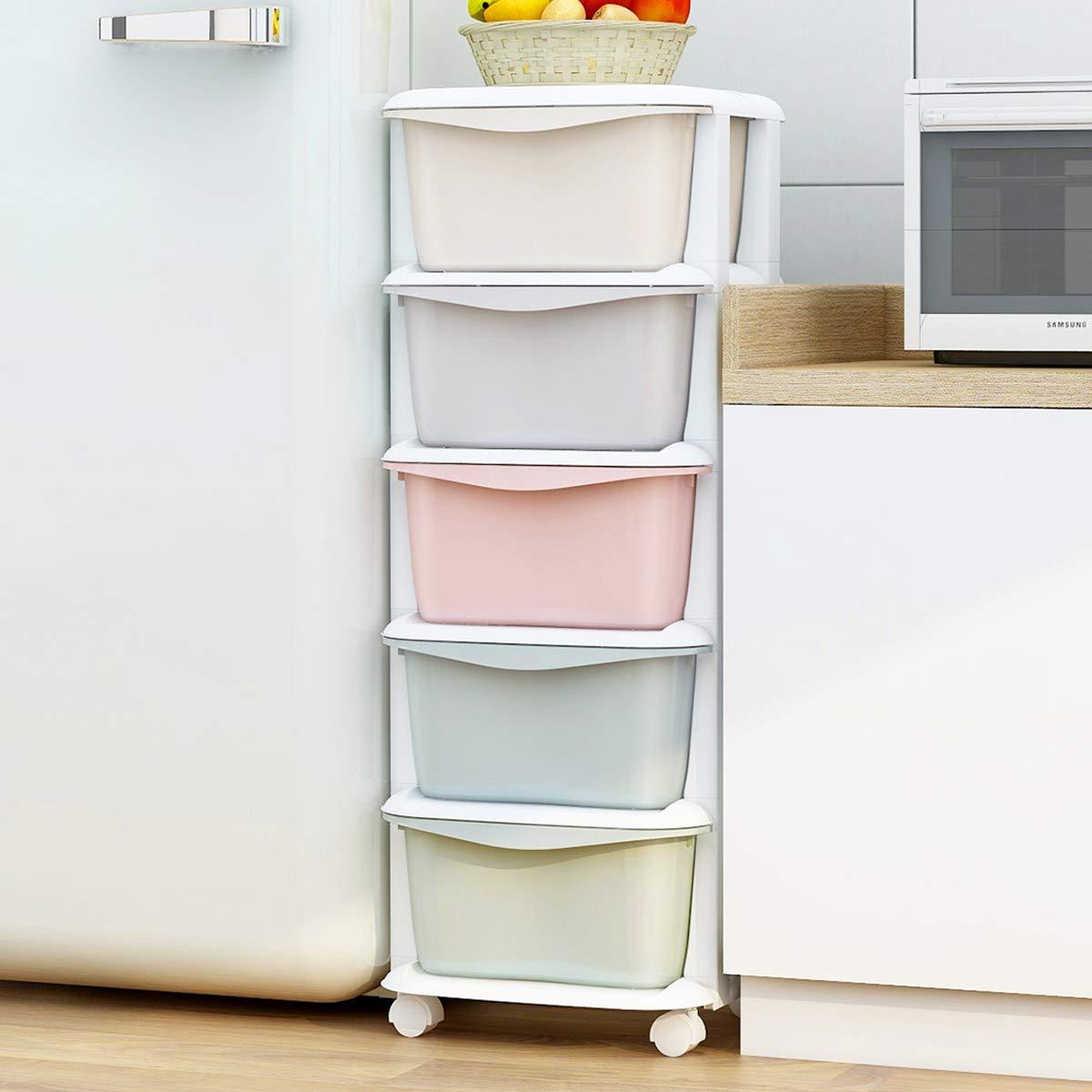 Nafenai Baby Storage Organizer, Cute Multicolor Drawer Storage Cart for Kids Bedroom, 5 Drawers-14.57'' L x 14.96'' W x 38.19'' H by Nafenai (Image #1)