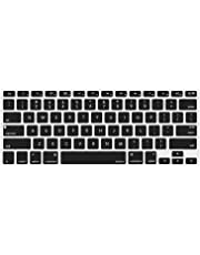 MOSISO Silicone Keyboard Cover Compatible Older MacBook Air 13 Inch A1466 / A1369, Release 2010-2017,MacBook Pro 13/15 Inch (with/Without Retina Display, 2015 or Older Version), Black