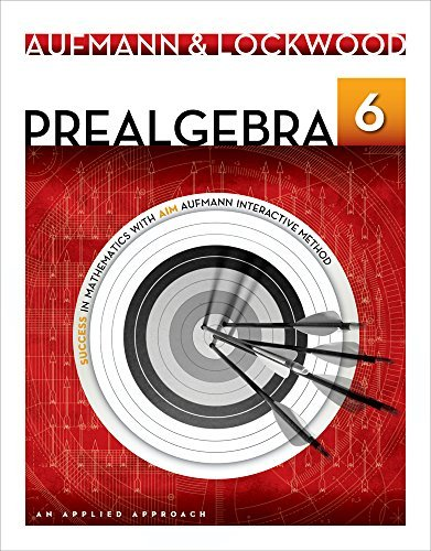 By Richard N. Aufmann Bundle: Prealgebra: An Applied Approach, 6th + Enhanced WebAssign with eBook LOE Printed Access Card (6th Sixth Edition) [Paperback] pdf epub