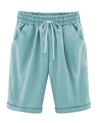 YiLianDa Damen Bermuda-Shorts im Chino Style Elegante Kurze Hose  Amazon.de   Bekleidung 3f5f348b04