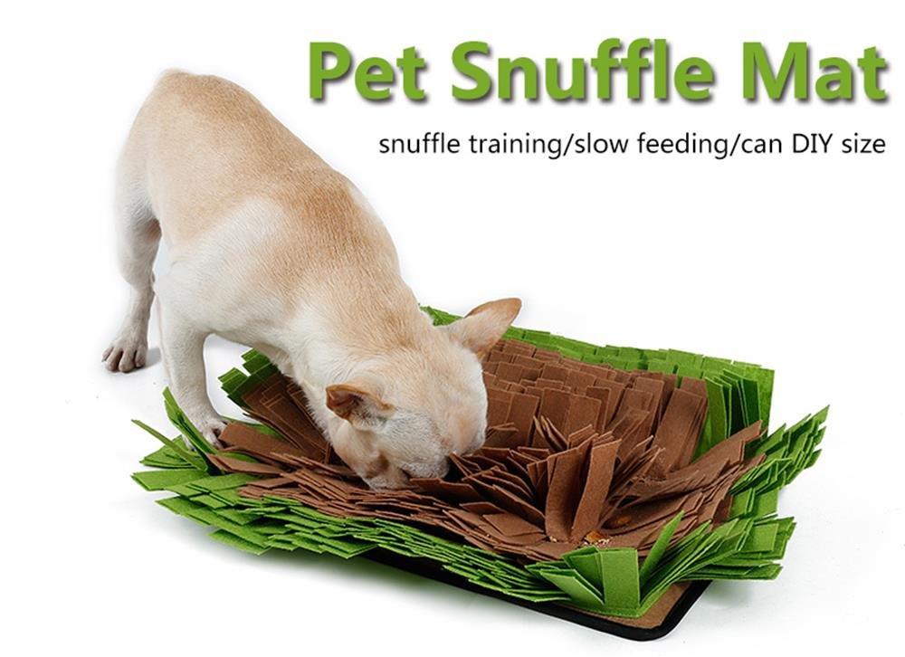 Petneces Snuffle Mat Encourages Natural Foraging Skills Dog Feeding Mats - Dog Smell Training Mat Nose Work Blanket Petneces-1