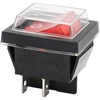 Heschen Interrupteur à bascule ON/OFF Dpst On-Off 4bornes lumière rouge 16A 250VAC avec housse imperméable