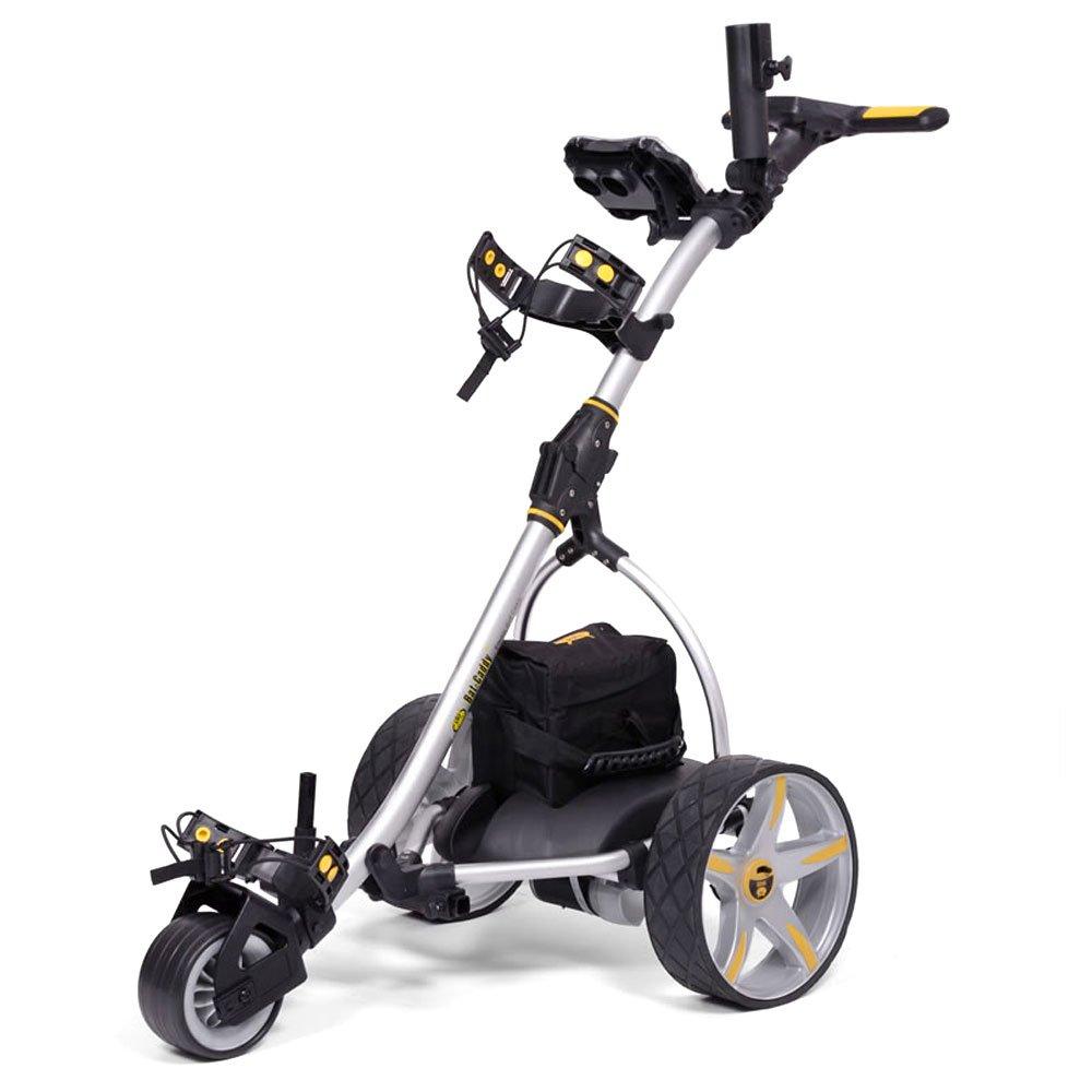 Bat-Caddy X3 Electric Push Cart w Free Accessory Kit, Silver, 35Ah SLA
