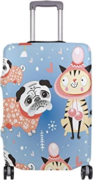FOLPPLY Cute Cartoon Cactus Luggage Cover Baggage Suitcase Travel Protector Fit for 18-32 Inch