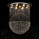 HOMEE Ceiling Chandelier-Led Crystal Chandelier Lights Hanging Line Ball Living Room Lights Bedroom Lights Lamps ,6090Cm