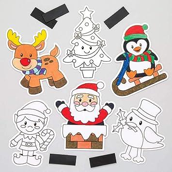 Baker Ross Imanes navideños para Colorear (Pack de 12), Ideales ...