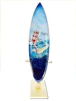 Seestern Sportswear FBA_1859 - Tabla de Surf (Madera, 30 cm de Longitud), diseño de Surf: Amazon.es: Juguetes y juegos