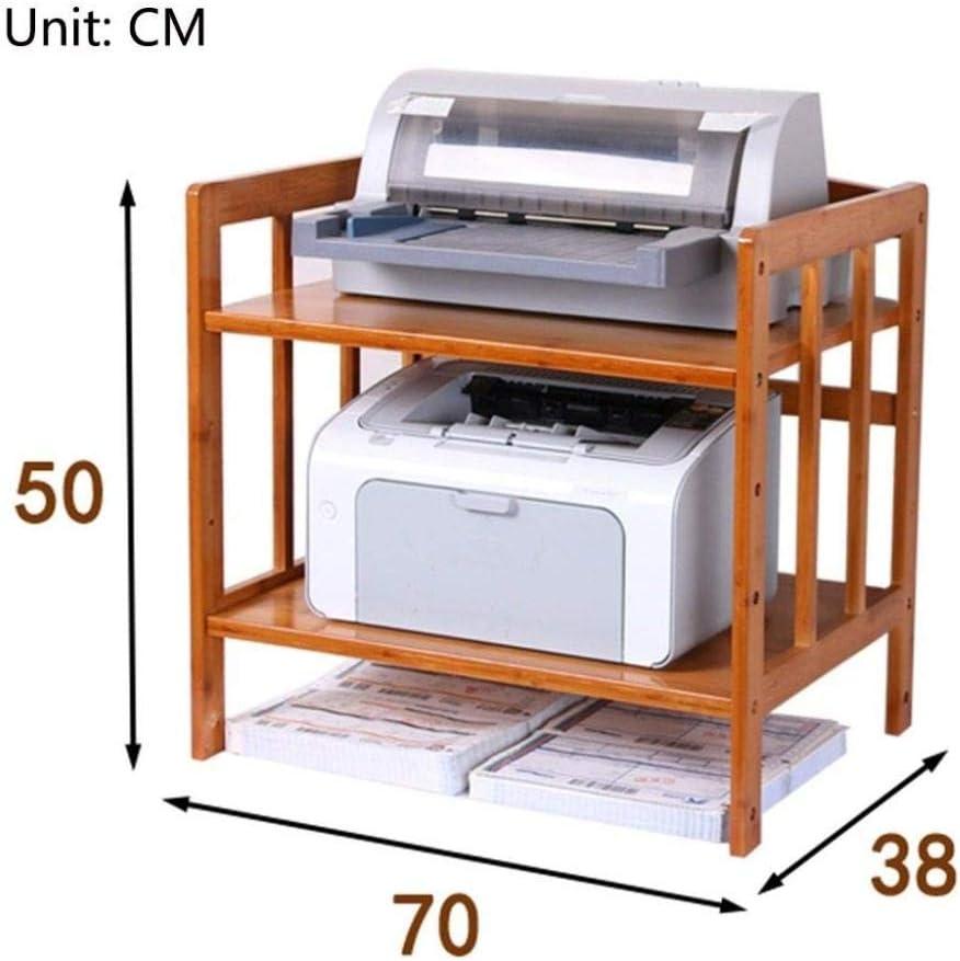 Druckern-70 cm /× 38 cm /× 50 cm Kleines Holzregal Back/öfen dreistufiges Regal zum Speichern von Mikrowellen