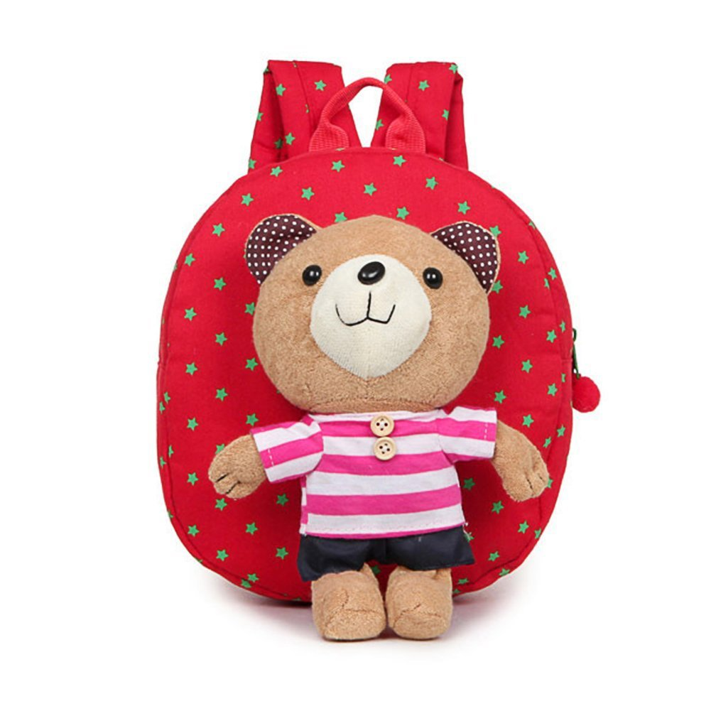 Estwell Cute Bear Anti Lost Baby Backpack Kids Toddler Safety Harness School Bag with Reins