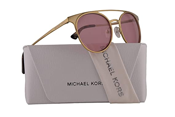 bd2fc89c1f87 Image Unavailable. Image not available for. Color: Michael Kors MK1030  Grayton Sunglasses Shiny Pale Gold w/Pink Lens 52mm 116884 ...