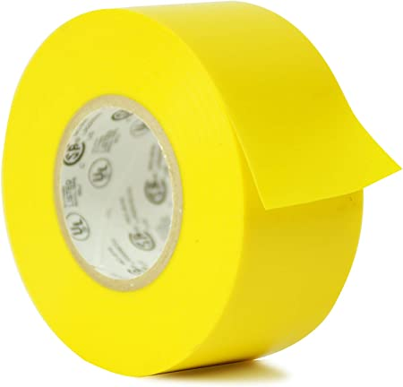 Pack of 1 Utility Vinyl Rubber Adhesive Electrical Tape: 1//2 in WOD EL-766AW Professional Grade General Purpose Yellow Electrical Tape UL//CSA listed core X 66 ft Use At No More Than 600V /& 176F