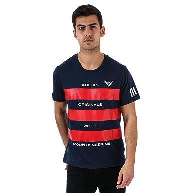 T Shirt adidas Originals White Mountaineering pour homme en bleu