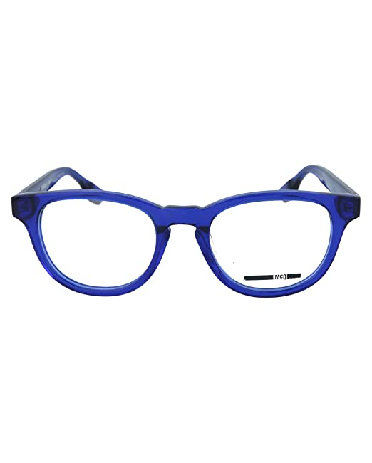 07d0ee10223 Eyeglasses Alexander McQueen MQ 0033 O- 003 BLUE   BLUE  Amazon.ca   Clothing   Accessories