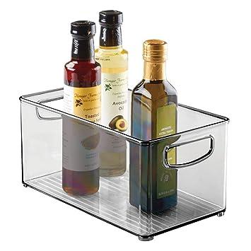mDesign Organizador de frigorífico con asas - Prácticas cajas ...