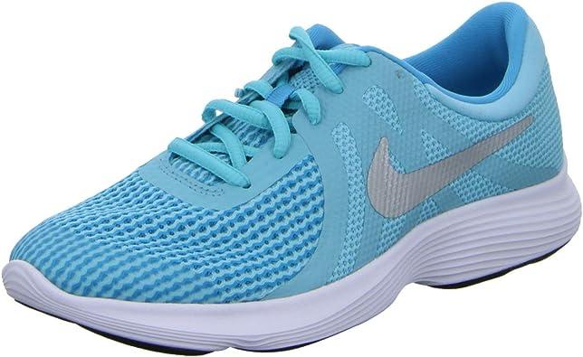 Nike Zapatillas Revolution 4 (GS), Deporte para Mujer, Multicolor 943306 400, 38 EU: Amazon.es: Zapatos y complementos