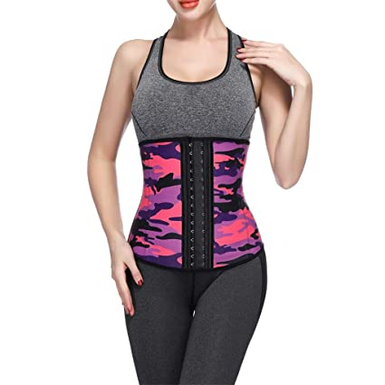fd68621f439 Amazon.com  Allywit Women Camouflage Waist Trainer Underbust Corset Short  Torso Mesh Body Shaper  Electronics