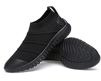 Lucdespo Zapatillas Casual para Hombre Volando Tejiendo Confort Calcetines Elásticos Zapatos Zapatos Lazy Ligeros Zapatos Deportivos