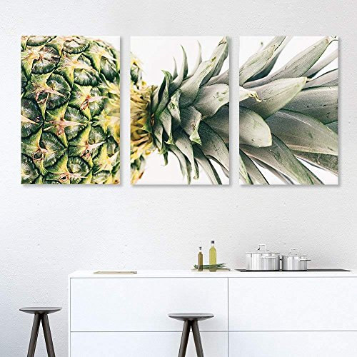 3 Panel Pineapple Wall Decor x 3 Panels