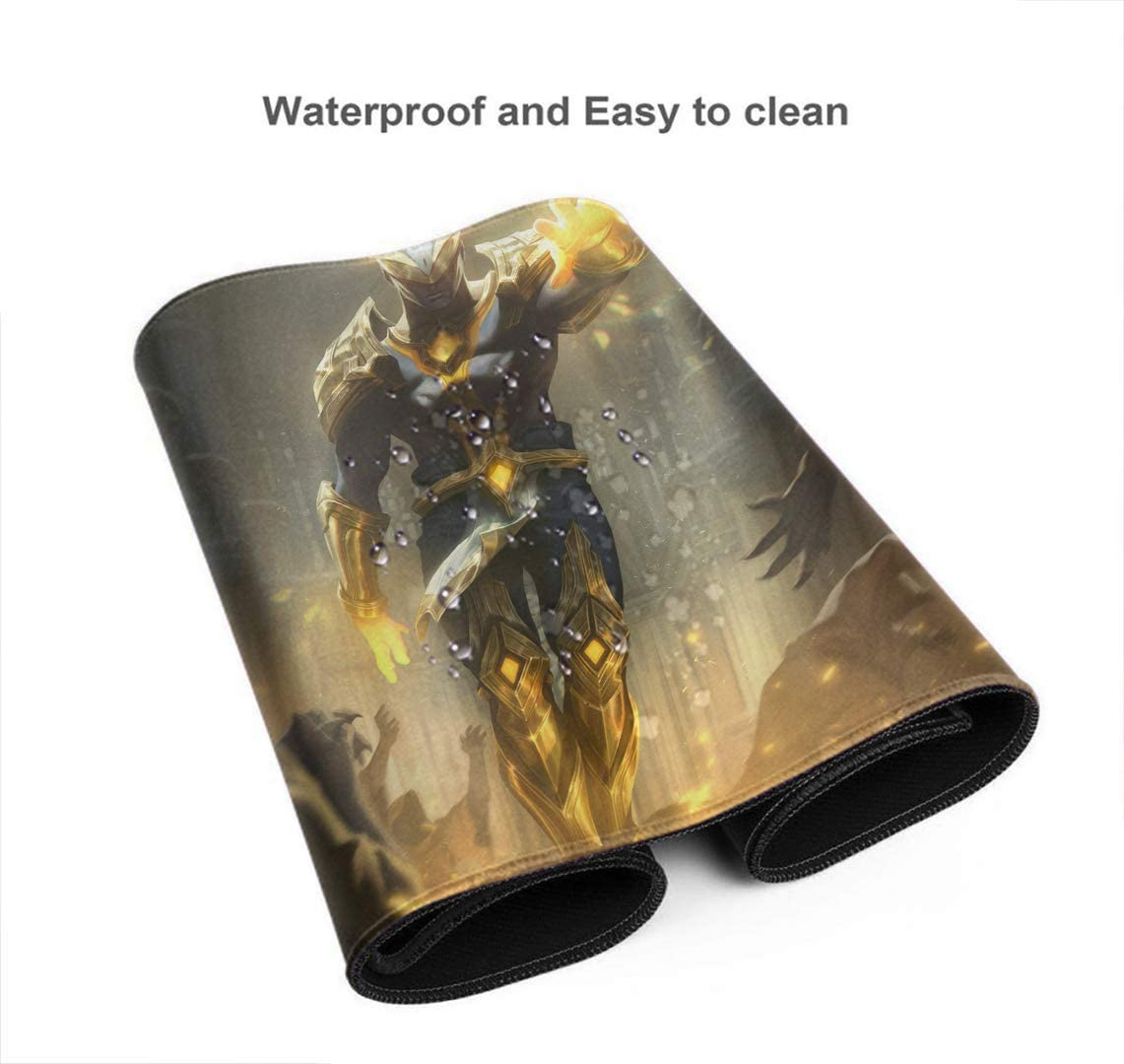 Professional Gaming Mouse Pad for League Legends Thick Large Champion Blitzcrank Riot LOL Office Mouse Pad with Non-Slip Rubber Base Waterproof 29.5/×15.7 Inch
