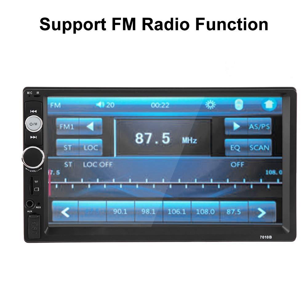 Radio Fm Usb Aux Kit De Control Remoto Reproductor De Video Para Auto Con Control Remoto 7 Pulgadas Hd Touch Scrren Doble Din Bluetooth Reproductor De Auto Mp5 C/ámara Trasera