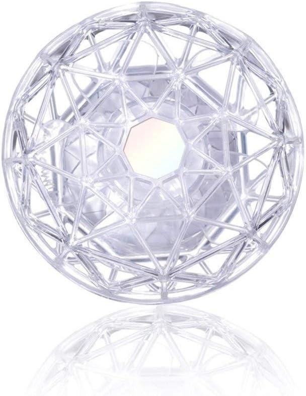 Air Cooler Charging USB Mini Fan Portable Diamond Fan Desktop Table Fan Silent Handheld Fan Color : White