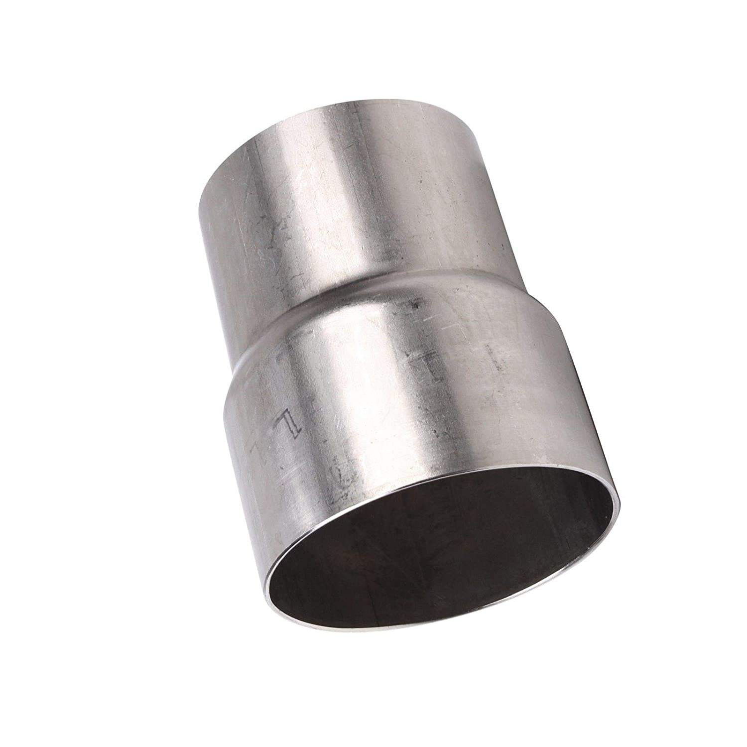 yjracing Universal 2 ID to 3 OD Exhaust Pipe Adapter Connector Reducer Stainless Steel