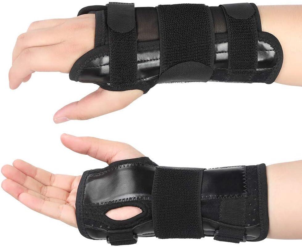 Vendaje de pulsera, muñeca y ortesis a mano, soporte de muñeca de vendaje de mano con férula extraíble para alivio del dolor para el túnel carpiano y la muñeca de soporte de la mancha ortesis de mano