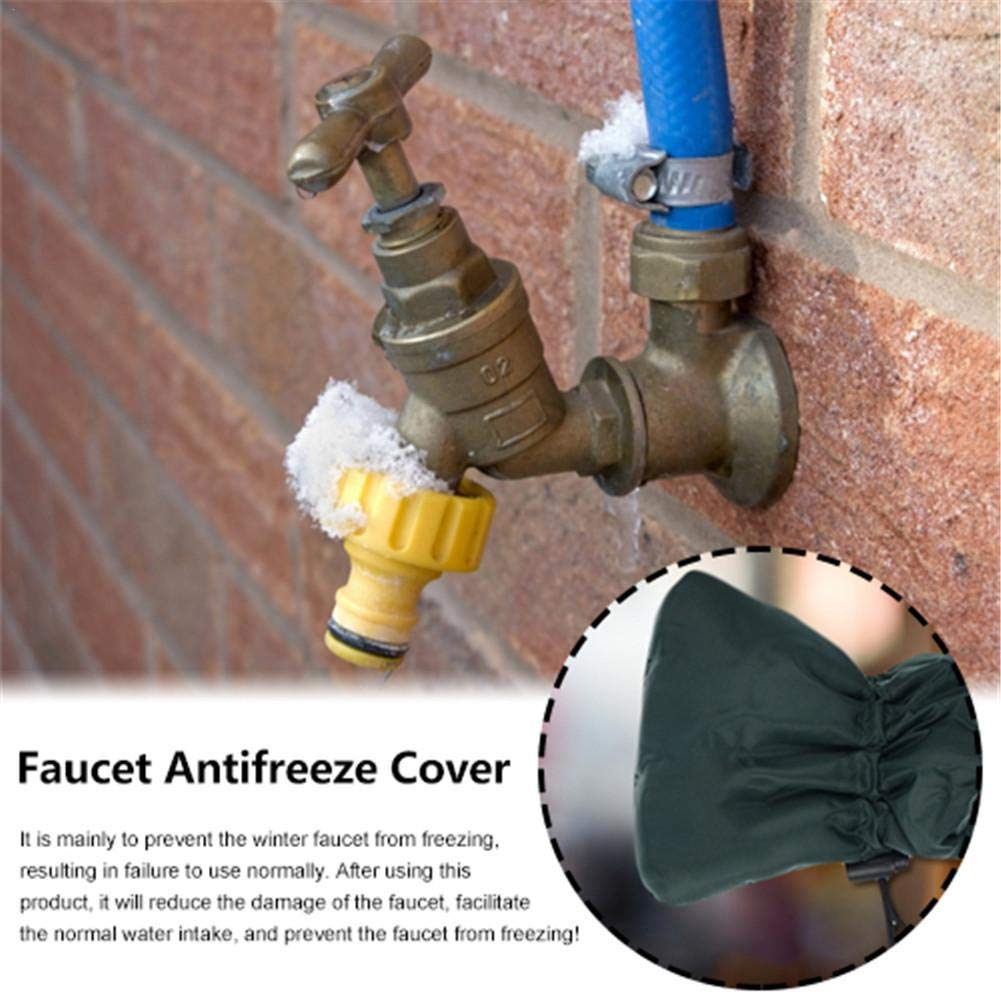 Insulated Pouch Faucet Protector Cover Protect Your Outside Garden Tap from Freezing 2pcs Outside Tap Covers for The Winter Outdoor Garden Tap Cover Jacket Insulated Protector