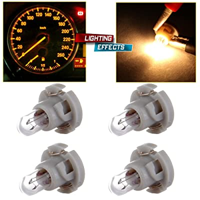 cciyu T4/T4.2 Neo Wedge Halogen A/C Climate Control Bulb Instrumnet Panel Dash Light,4Pack: Automotive