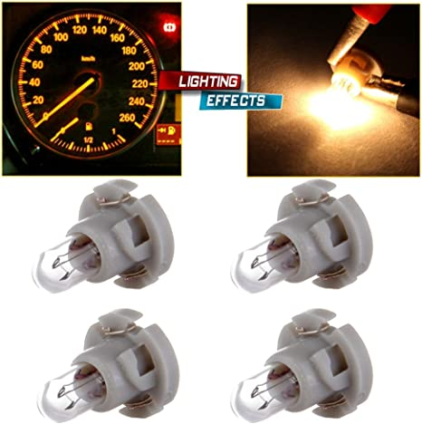 cciyu 20 Pack Warm White T4//T4.2 Neo Wedge Halogen A//C Climate Control Bulb Replacement fit for A//C Climate Control Light
