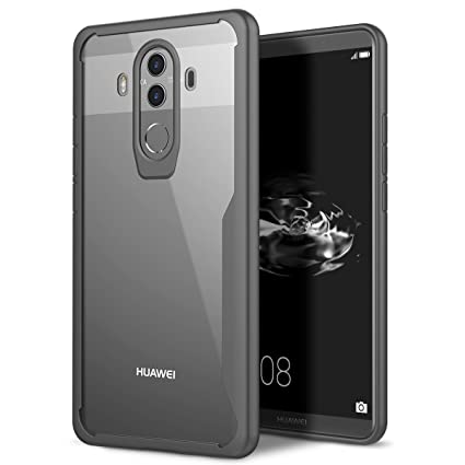 9ad35d62ec0 YT MARQUEEN Huawei Mate 10 Pro Funda Transparente Backcover PC Bumber  Shock-Absorción Ultra Slim