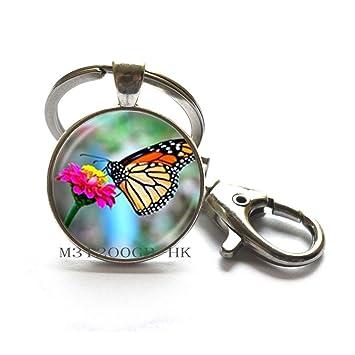 Llavero de mariposa plateado, llavero de mariposa, joyería ...
