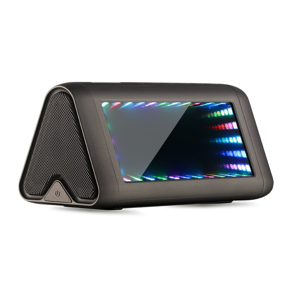 Bluetooth 3D LED Speaker, Coidak HI-FI Portable Wireless Stereo Speakers with 7 Dynamic Sound-activated Lighting Effects, Built-in Microphone for Hands-free, for Iphone Ipad Samsung Tablet Laptop etc