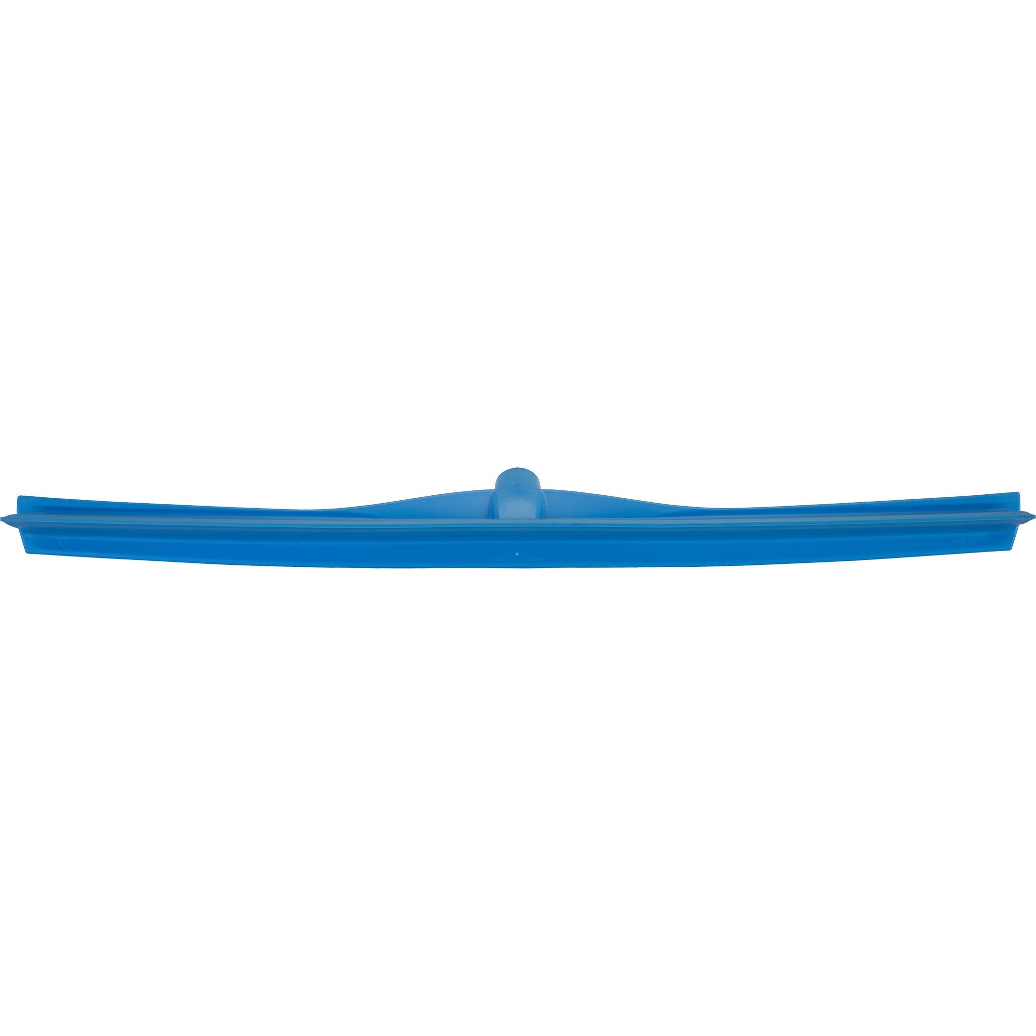 Vikan 71703 Rubber Polypropylene Frame Single Blade Squeegee, 28'', Blue