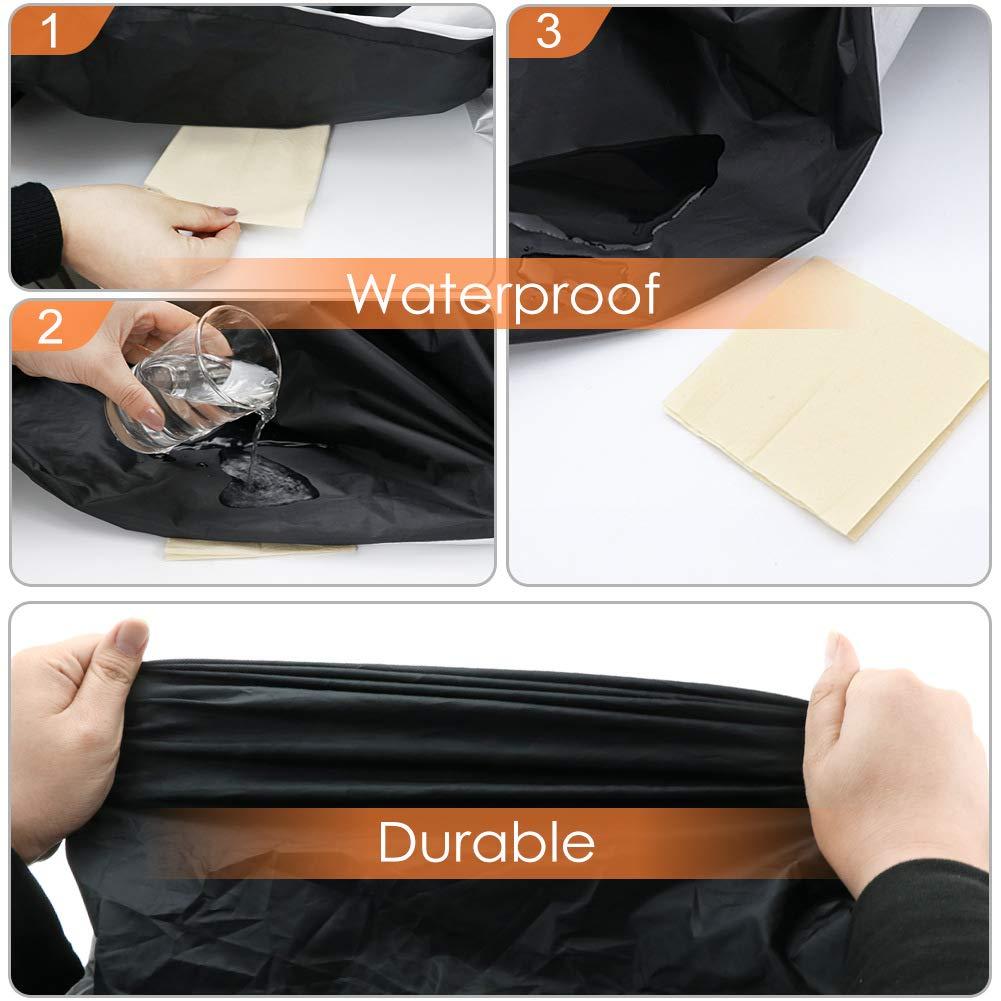 Anti Viento Polvo UV Lluvia Humedad Protector con Agujeros de Bloqueo COFIT Funda para Moto Cubierta de Motoa Impermeable XXL