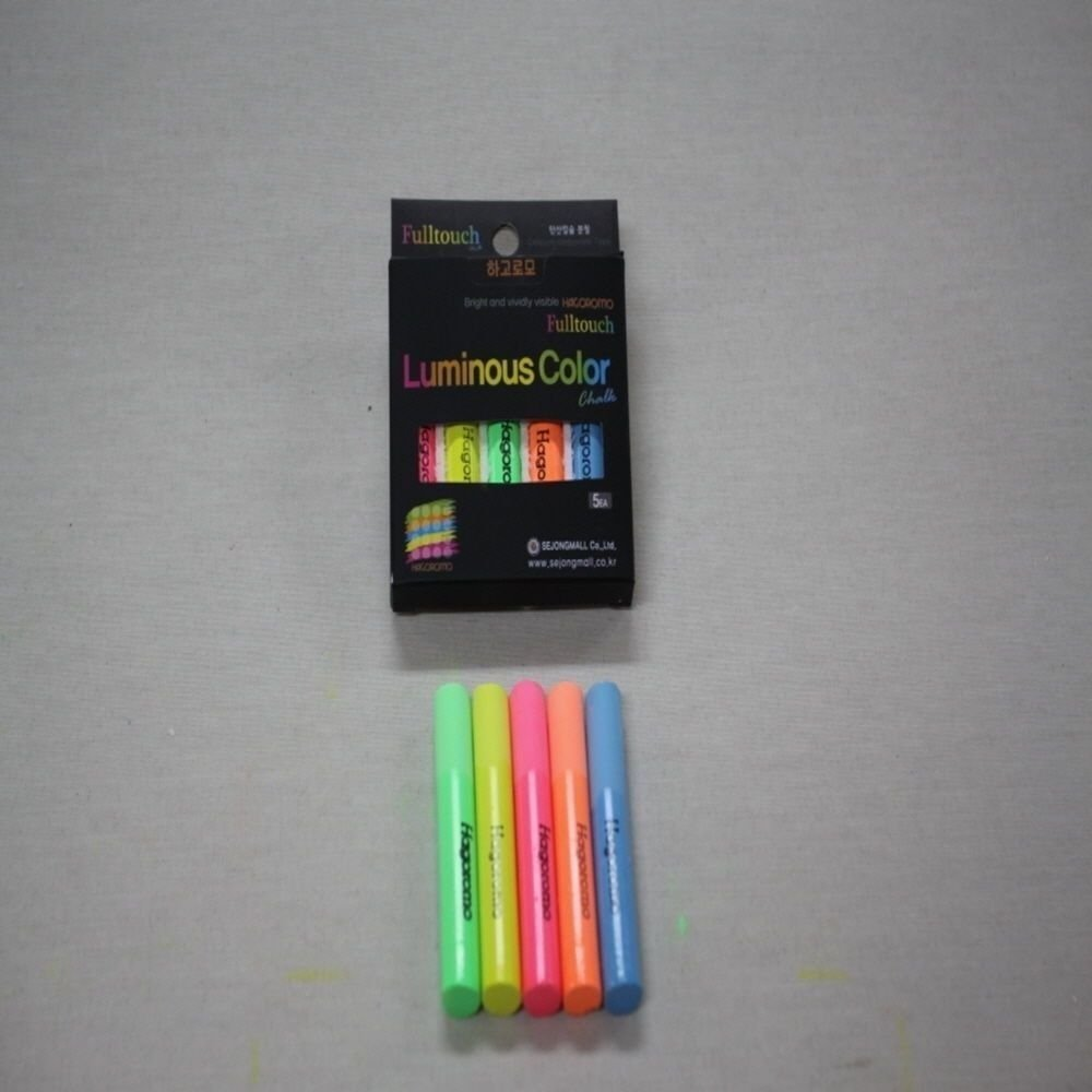 Hagoromo Fulltouch 10-Color Mix Chalk 12pcs + HAGOROMO Fulltouch Luminous (5 Colors) 5 pcs(Mix) + Chalk Case by Hagoromo