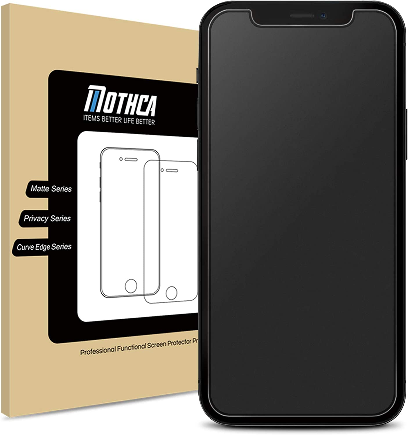 Mothca Matte Screen Protector for iPhone 12 Pro Max Anti-Glare & Anti-Fingerprint Tempered Glass Clear Film Case Friendly Easy Install Bubble Free for iPhone 12 Pro Max 6.7-inch (2020)-Smooth as Silk