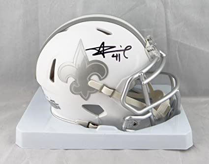 aeaa92a0 Image Unavailable. Image not available for. Color: Alvin Kamara Autographed  New Orleans Saints ...