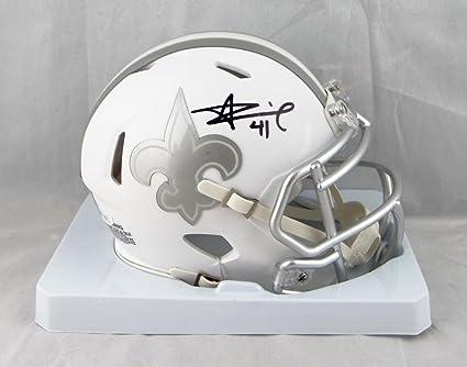 premium selection 847f1 3e0b3 Alvin Kamara Autographed New Orleans Saints Ice Mini Helmet- JSA Witnessed  Auth