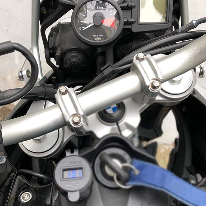 Cypressen Dual Usb Motorrad Ladegerät Steckdose Zigarettenanzünder Adapter Led Anzeige Für Bmw F800gs R1250gs R1200gs Schnellladung 3 0 Auto