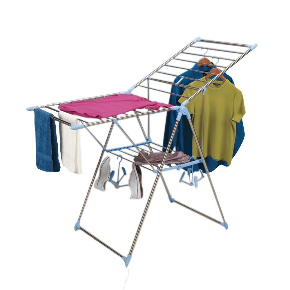 Adjustable Clothes Drying Rack, Aluminum and Stainless