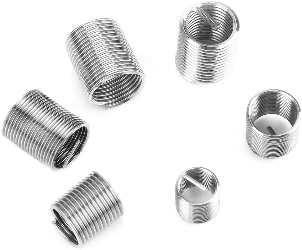 Regun Stainless Steel Coiled Wire Helical Screw 50pcs M8-M12 Fine Thread Stainless Steel Coiled Wire Helical Screw Thread Inserts Set