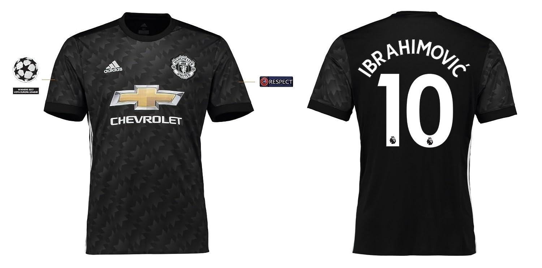 Trikot Kinder Manchester United 2017-2018 Away UCL - Ibrahimovic 10