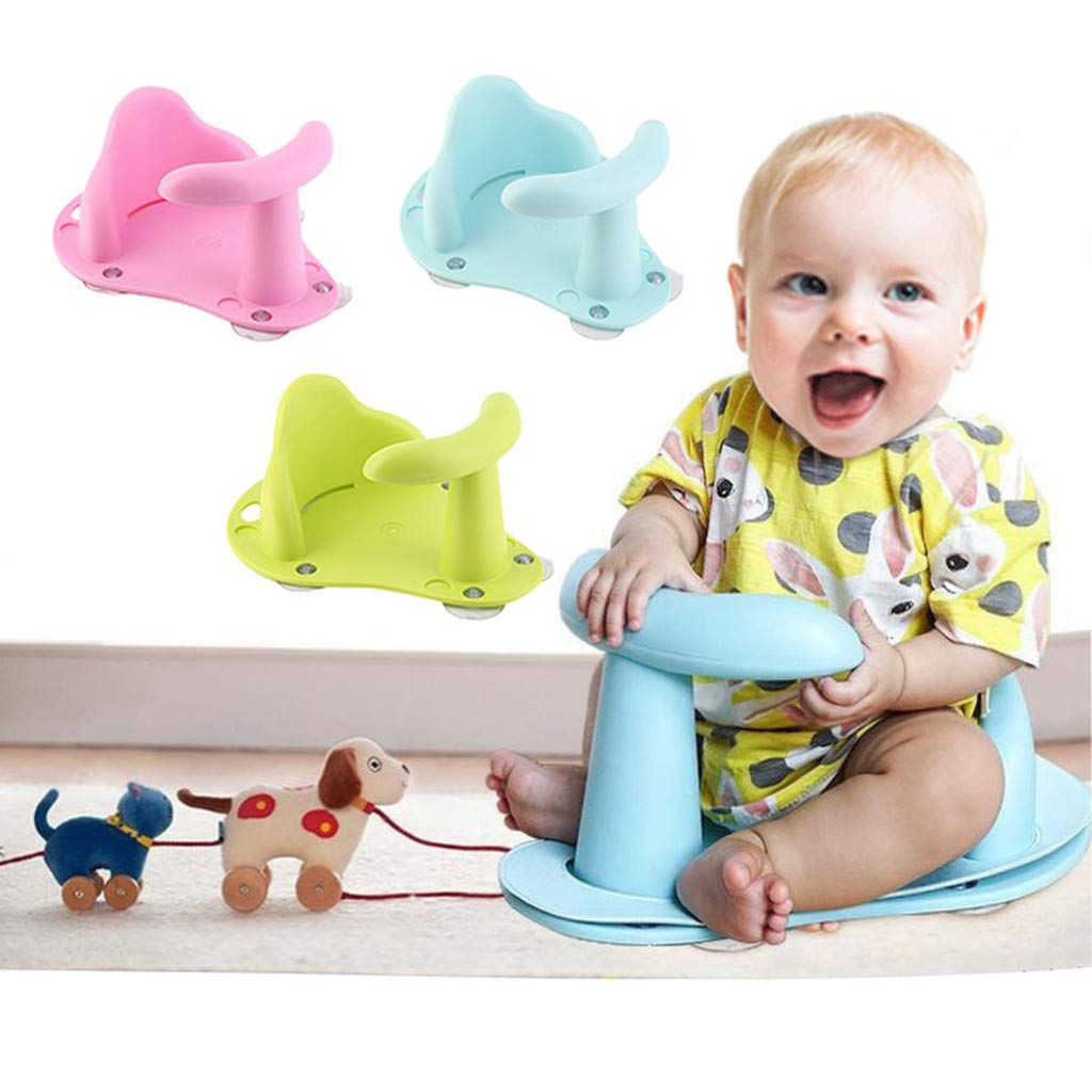 Blu Takkar Seggiolino da Bagno di Sicurezza Antiscivolo Confortevole per Bambini di 1-3 Anni