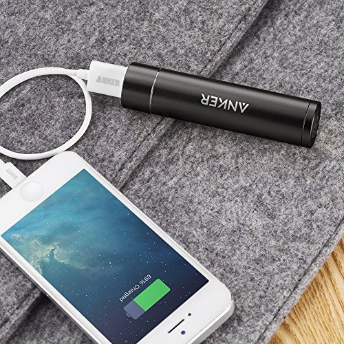 Anker PowerCore minor 3350mAh Lipstick Sized portable Charger 3rd development Premium metallic electric power Bank One of the most reliable External Battery Uses great superior quality Panasonic Cells Chargers Adapters