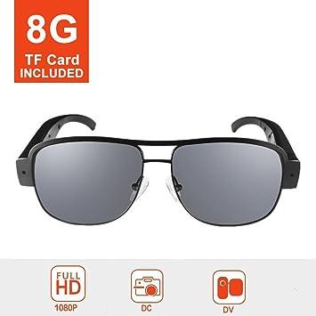 mofek 8 GB 1080P HD espía cámara moda gafas de sol 1920 * 1080 Cámara de vigilancia espía cámara oculta vídeos Cam DV DVR