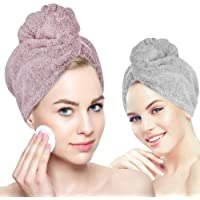 Organic Bamboo hair towel wrap Turban, YesTree Microfiber Quick Dry Hair Turban Wrap with Button, Quick Magic Dryer, Dry…