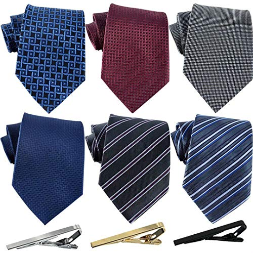 Jeatonge Lot 6 Pcs Mens Ties and...
